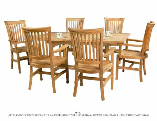 Hawaiian teak patio set.