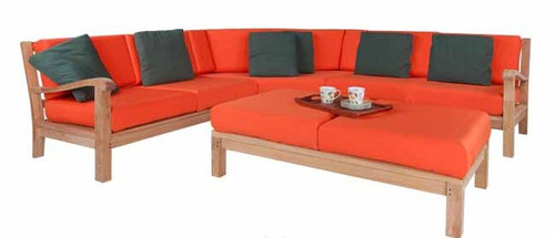 (4pc) MARINA DEL REY SECTIONAL DEEP SEAT SET - I - out of stock