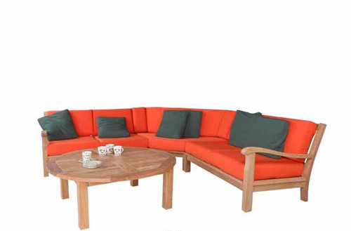 (4pc) MARINA DEL REY SECTIONAL DEEP SEAT SET - II - out of stock