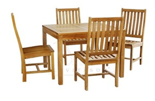 By WOOD-JOY. All golden teak dining set. 4 chairs and 1 table.