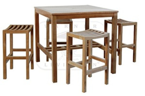 5pc teak bar set by WOOD-JOY.