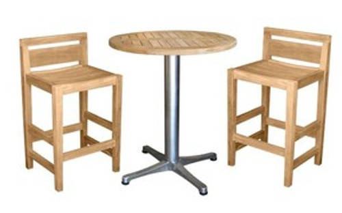 3pc teak bar set for that special occasion.