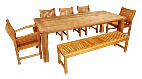 CRISTO TEAK DINING SET (8 seat) - II