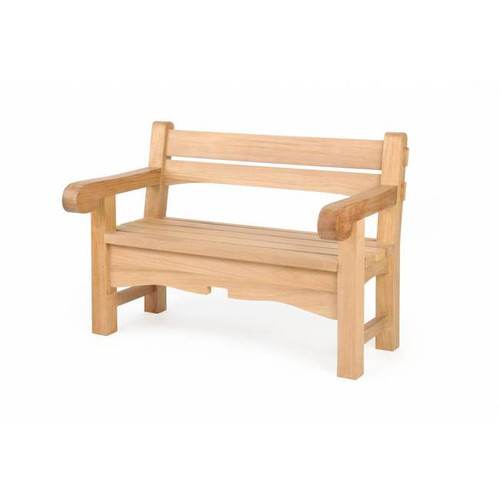 TEAK CHUNKY BENCH - out of stock