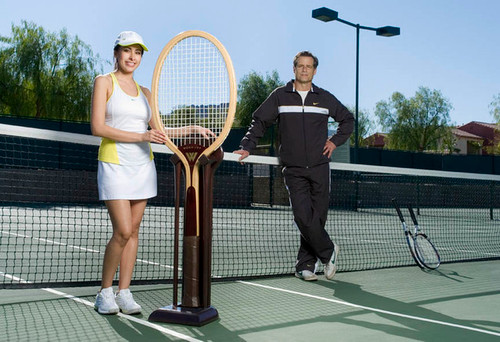 Giant size tennis racquet by WOOD-JOY.