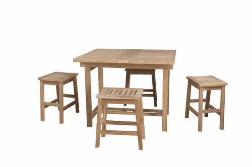 New 5pc Grandview Teak Counter Height Set