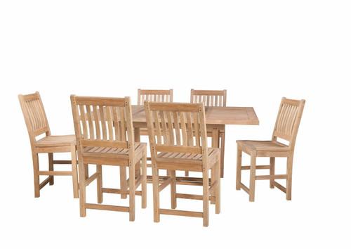 GRANDVIEW TEAK DINING SET (6 seat) - I (counter height)