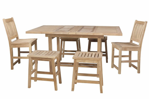 GRANDVIEW TEAK DINING SET (6 seat) - II (counter height)
