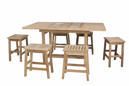 GRANDVIEW TEAK DINING SET (6 seat) - III (counter height) - out of stock