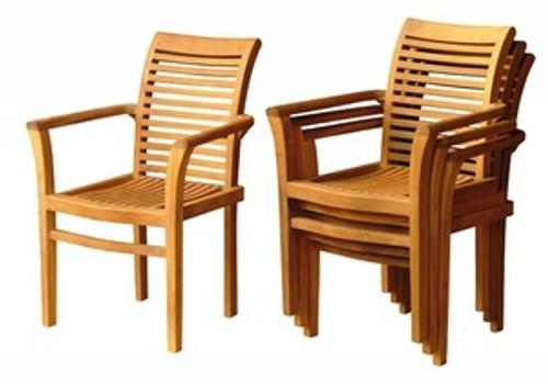 Teak Ocean Chairs (stackable)