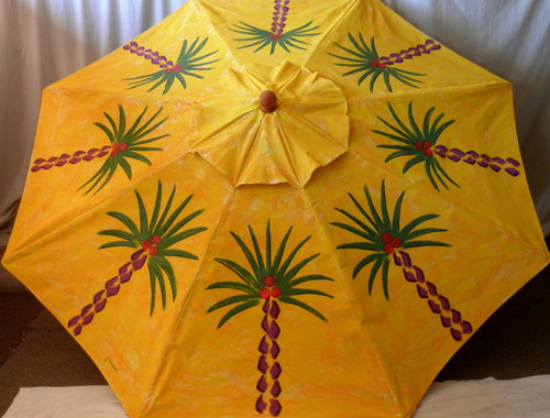 ART UMBRELLA - SUNSHINE PALMS