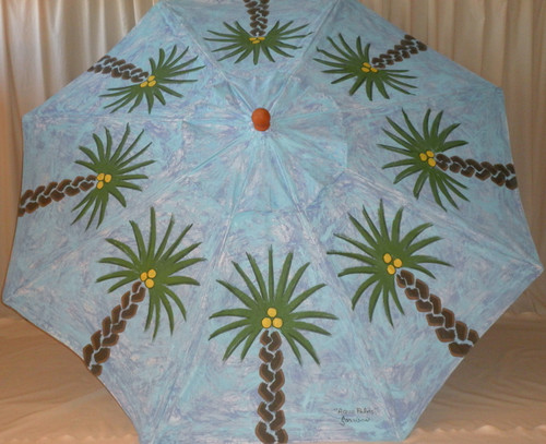 ART UMBRELLA - AQUA PALMS