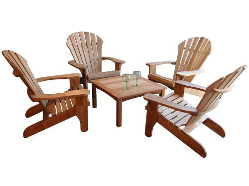 (5pc) DNI ADIRONDACK CHAIR SET - II SQUARE TABLE