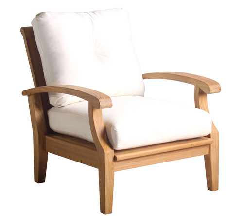 Teak Club chair with very comfortable cushions.