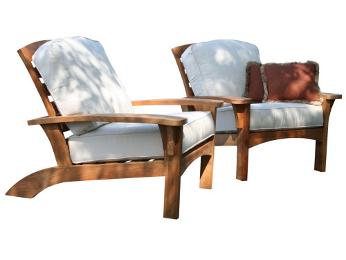Teak adirondack deep seat club chairs.