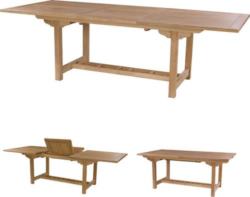 Single leaf teak extension table