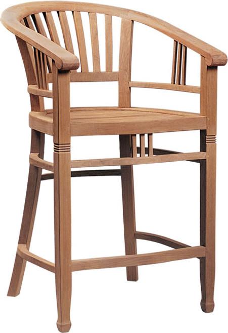 Tropical teak chair.