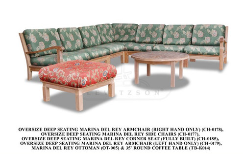 (9pc) MARINA DEL REY SECTIONAL DEEP SEAT SET - out of stock