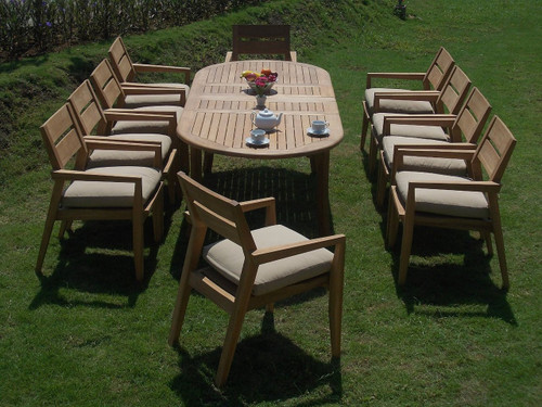 AMIRA TEAK OVAL DINING SET