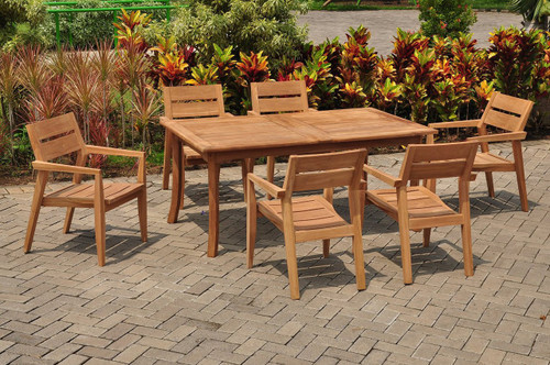 AMIRA TEAK RECTANGULAR DINING SET - II
