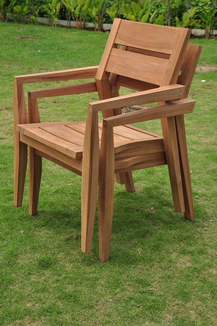 AMIRA STACKING ARM CHAIR (lot of 2)