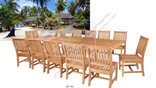 AVALON TEAK DINING SET - II