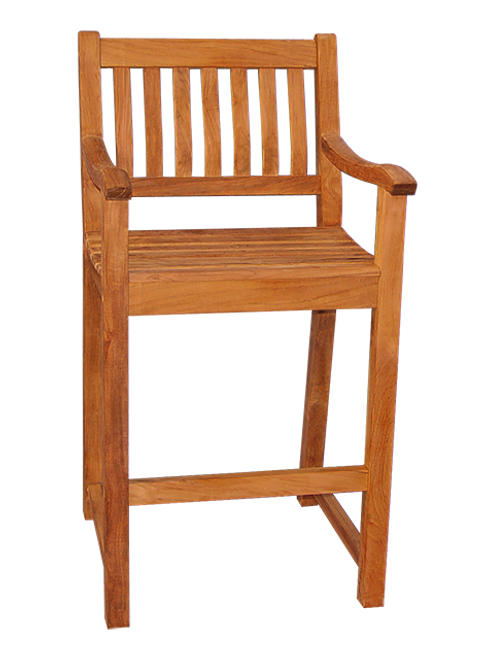 RIVERSIDE BAR CHAIR W/ARMS (lot of 4)