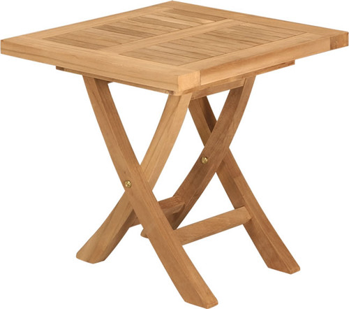 SQUARE NORDHOFF FOLDING SIDE TABLE