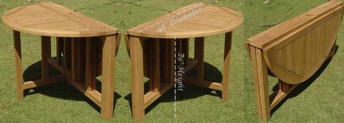 SONOMA TEAK PATIO SET- (Folding Table)