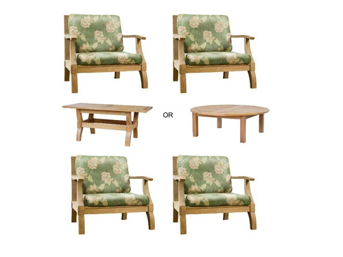 Marina Del Rey Teak Club Lounge Chairs