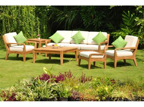 (6pc) ADIONE TEAK DEEP SEAT SET - II