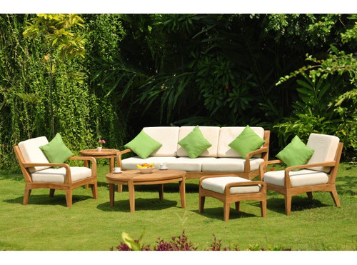 (6pc) ADIONE TEAK DEEP SEAT SET - I