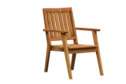 PALMEARE STACKING ARM CHAIR