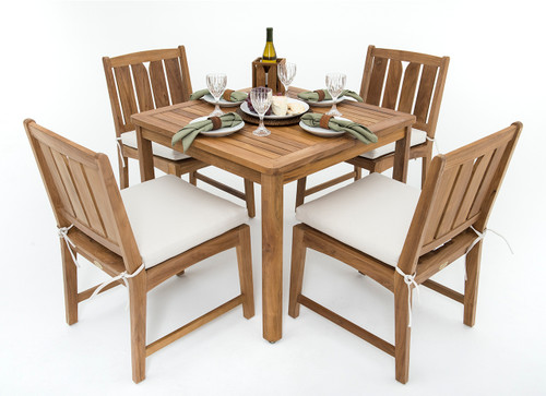 (4 seat) KONA TEAK BISTRO SET - Coachella Valley Sale