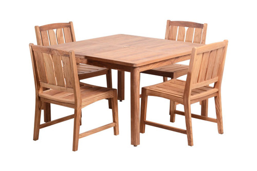(4 seat) KONA TEAK DINING SET - Coachella Valley Sale