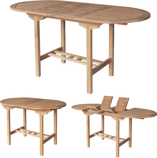 DOUBLE OVAL EXTENSION BAR TABLE