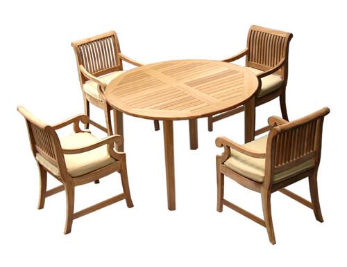 MAYA TEAK BISTRO SET (4 seat) - out of stock