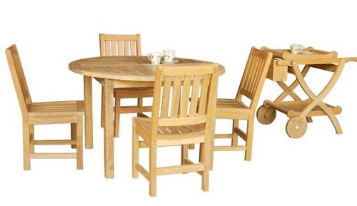 BALBOA TEAK DINING SET (4 seat) - II