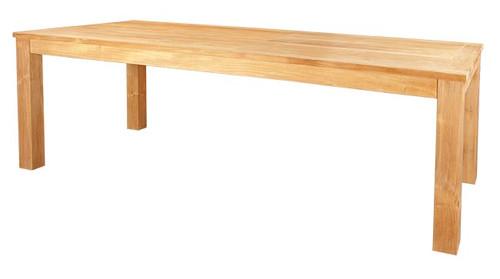 RECTANGULAR HEAVY AMAZON TABLE 79 - EXTRA TOP WIDE SLATS