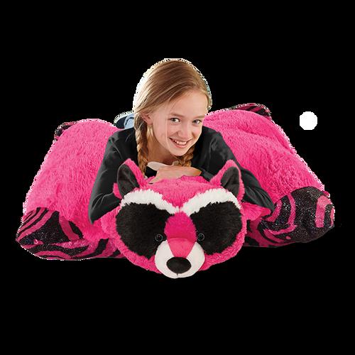 Jumboz Mystical Raccoon Pillow Pet with girl