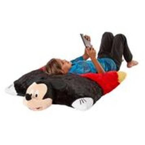Disney Jumboz Mickey Mouse Pillow Pet with boy reading a book