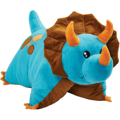 Blue Dinosaur Pillow Pet Folded