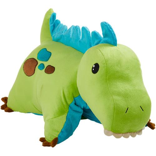 Green Dinosaur Pillow Pet Folded