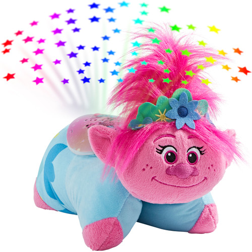 "Pillow Pets DreamWorks Poppy Sleeptime Lite 11"" – Trolls World Tour Stuffed Animal Plush Nightlight"