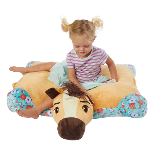"30"" Jumbo Spirit Riding Free Pillow Pet - Girl Sitting On Pillow Pet"