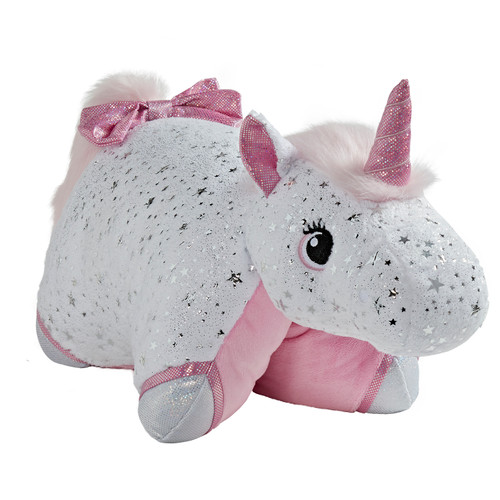 Glittery White Unicorn - Folded