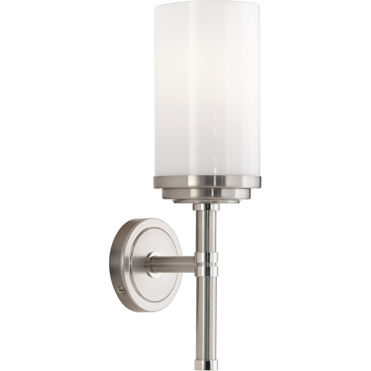 Robert Abbey Halo Wall Sconce in Brushed Nickel Finish with Polished Nickel Accents B1324