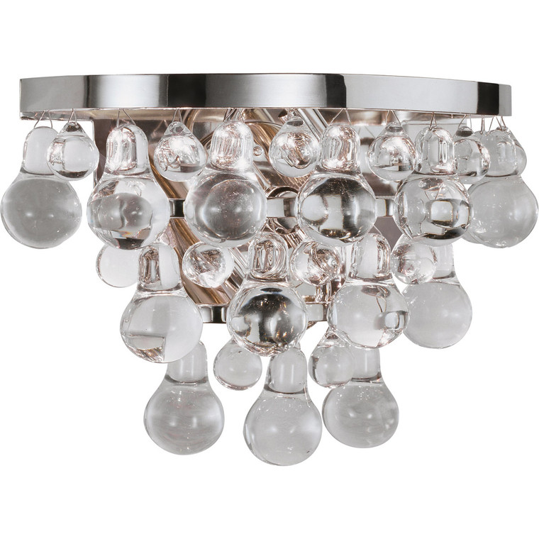 Robert Abbey Bling Wall Sconce in Polished Nickel S1001