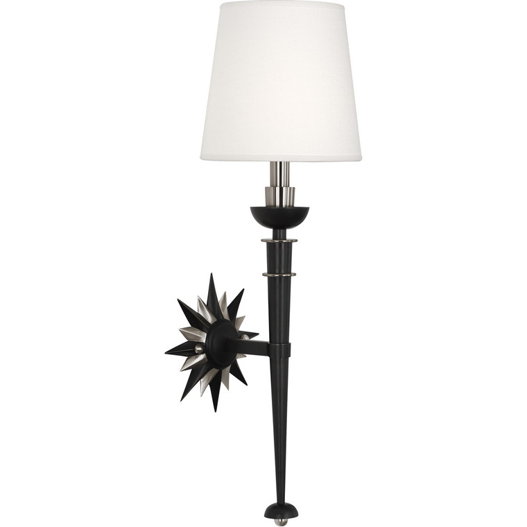 Robert Abbey Cosmos Wall Sconce in Deep Patina Bronze Finish with Antique Silver Accents S1016