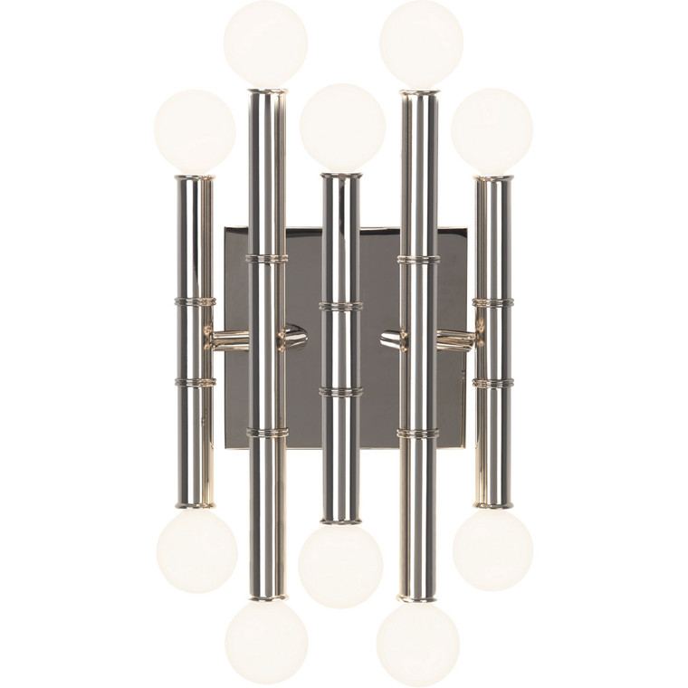 Robert Abbey Jonathan Adler Meurice Wall Sconce in Polished Nickel S686